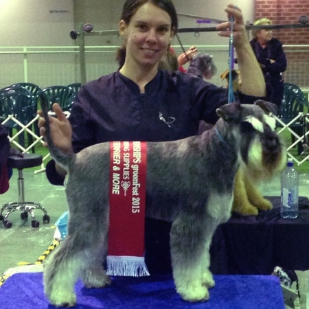 Groom Fest 2015 - Candace Winning Terrier 2nd Place