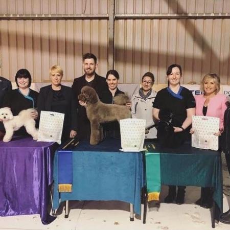 Kate Winning Dog Grooming Award
